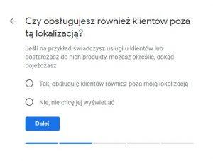 Obsługa klientów poza siedzibą firmy - weryfikacja wizytówki Google
