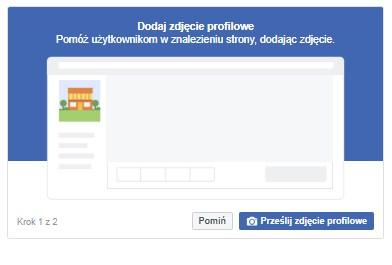Facebook podpowiada posiadaczom profili firmowych jakie informacje należy uzupełnić.