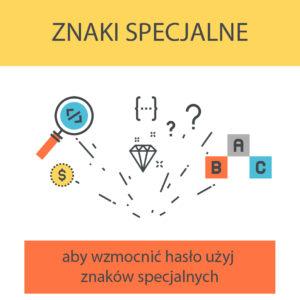 Używaj znaków specjalnych, żeby stworzyć bezpieczne hasło, którego nie da się złamać