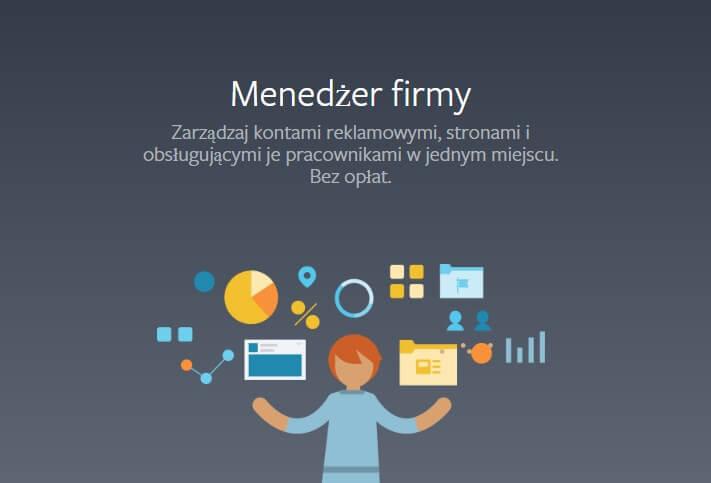 Instrukcja założenie Menedżera firmy na Facebooku