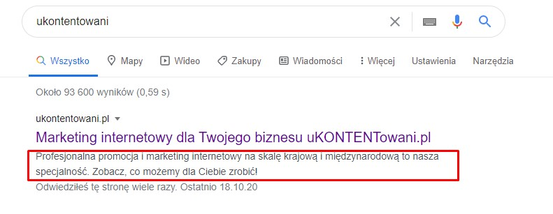 co to jest meta opis